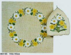 画像1: 夏のお花 フラワーリース