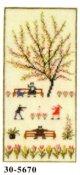 春 花糸2本取り 18x36cm
