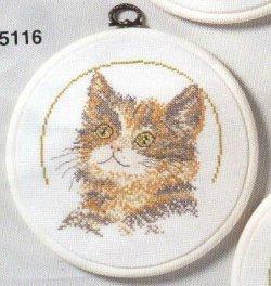画像1: 額付き・猫