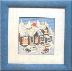 画像1: 冬の家並み