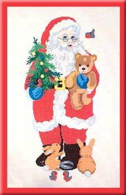 画像1: サンタクロースとおもちゃ クリスマス