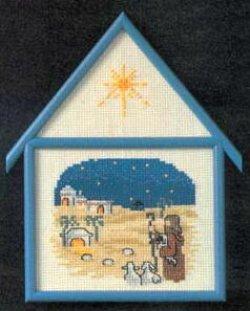 画像1: クリスマスオーナメント額付き・キリスト誕生