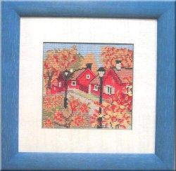 画像1: 秋の家並み