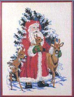 画像1: サンタクロースと森の動物 クリスマス