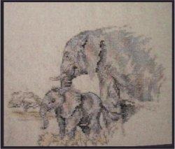 画像1: アニマル・像の親子