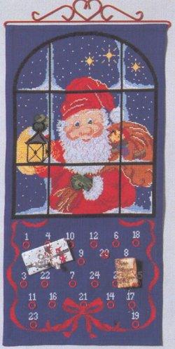 画像1: クリスマスカレンダー・窓の外のサンタ