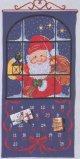 クリスマスカレンダー・窓の外のサンタ